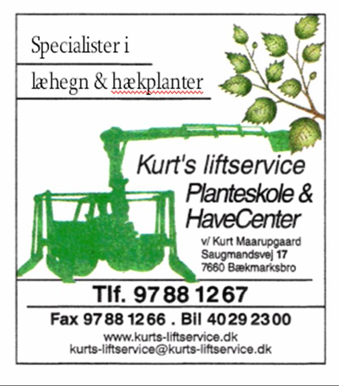 Kurt's Liftservice, Planteskole & Havecenter